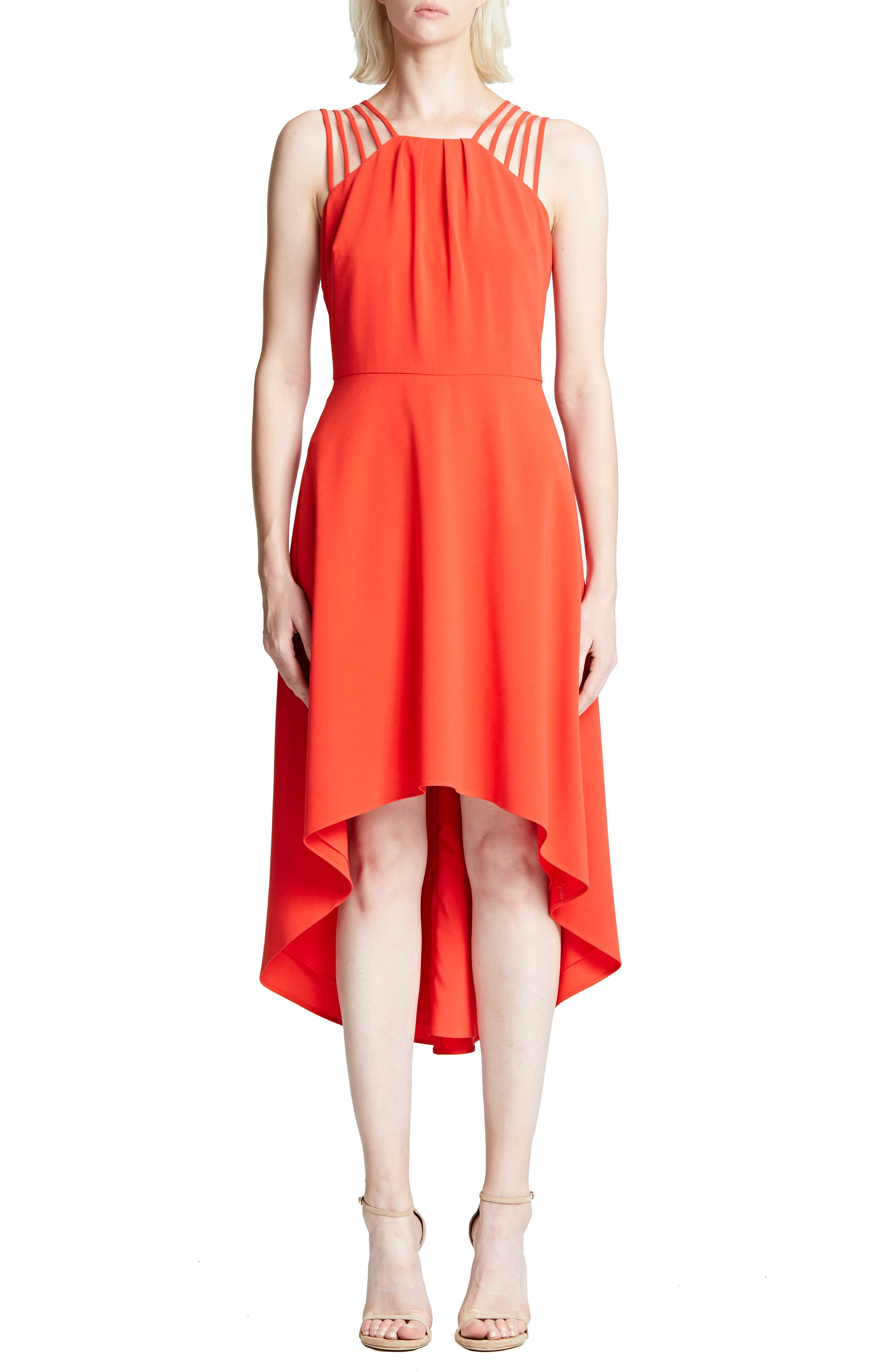 High/low Crepe Cocktail Dress