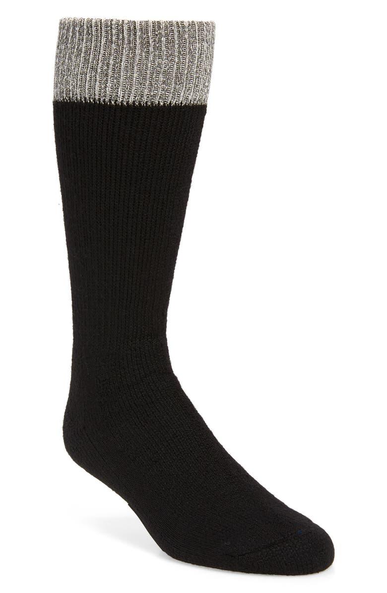FEAR OF GOD Merino Wool Blend Crew Socks, Main, color, MELANGE/ BLACK