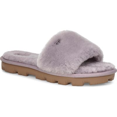 Ugg Cozette Genuine Shearling Slide, Grey