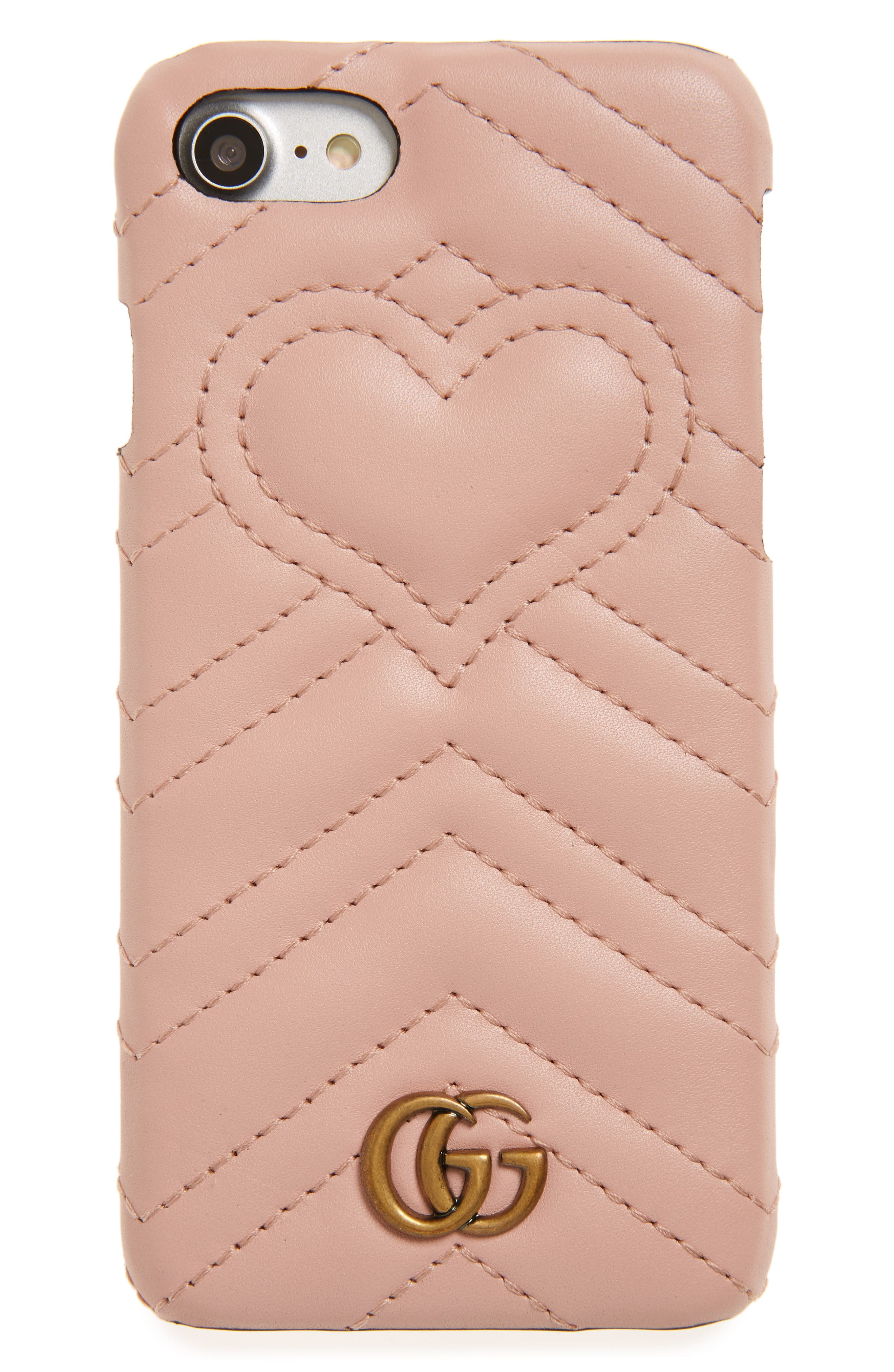 ,                             GG Marmont Leather iPhone 7 Case,                             Main thumbnail 5, color,                             650