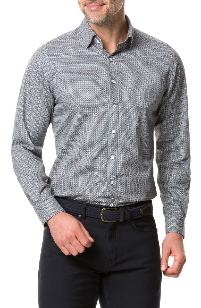 RODD & GUNN Donnelly Track Regular Fit Button-Up Shirt, Main, color, THYME