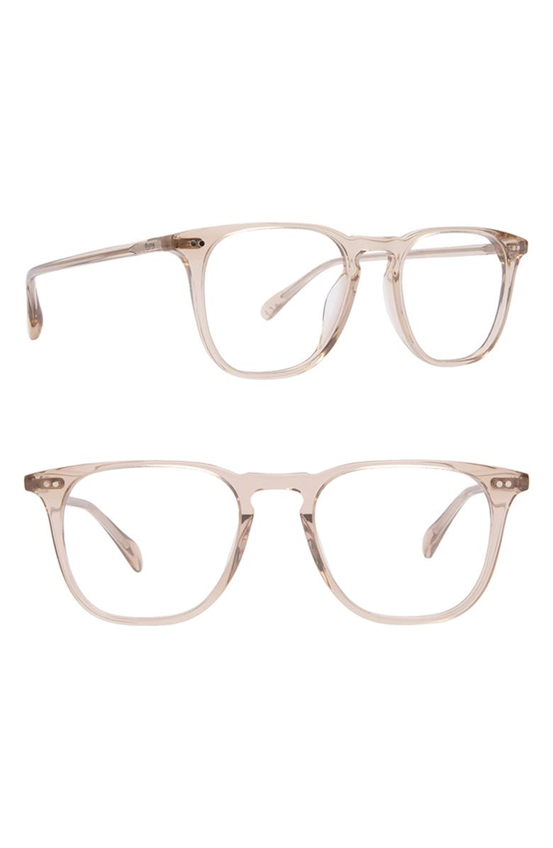 DIFF Maxwell 49mm Blue Light Blocking Glasses, Main, color, VINTAGE CRYSTAL/ BLUE
