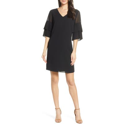 Sam Edelman Pleat Sleeve Shift Dress, Black