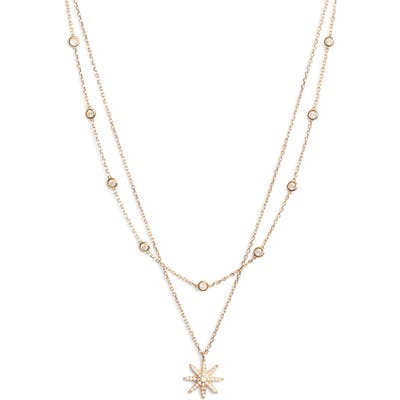 Sterling Forever Burst Layered Necklace