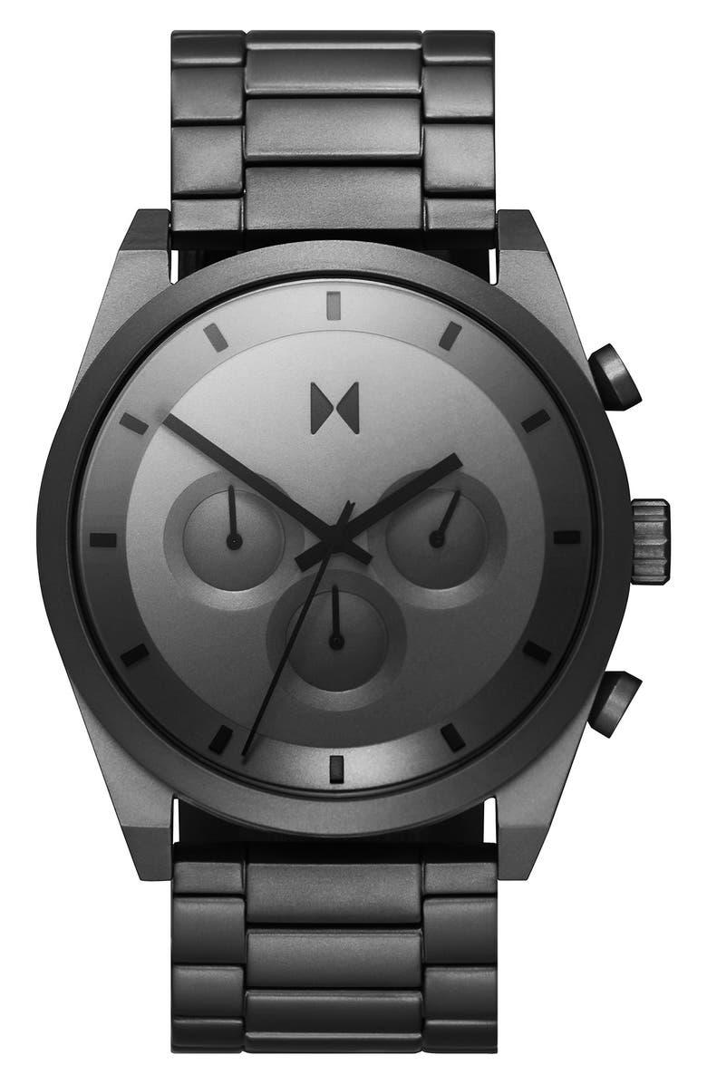 MVMT Element Chronograph Bracelet Watch, 44mm, Main, color, SILVER/ GREY/ SILVER
