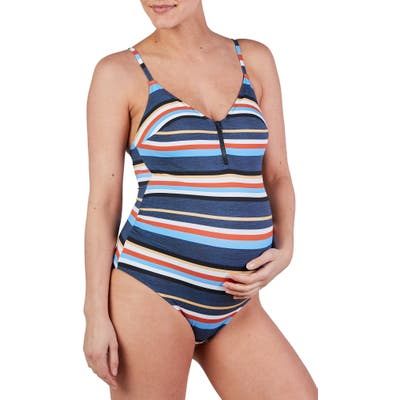 Cache Coeur Biarritz One-Piece Maternity Swimsuit, Blue