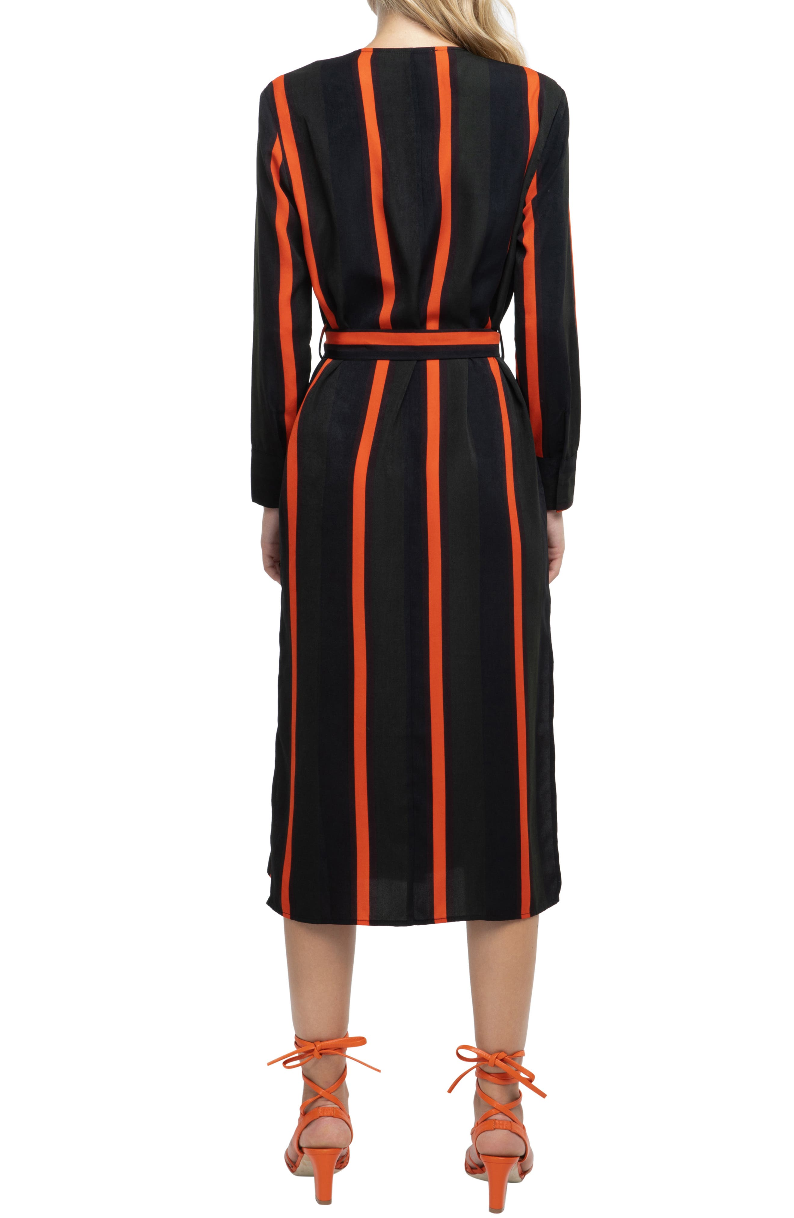 ,                             Stripe Wrap Dress,                             Alternate thumbnail 2, color,                             300