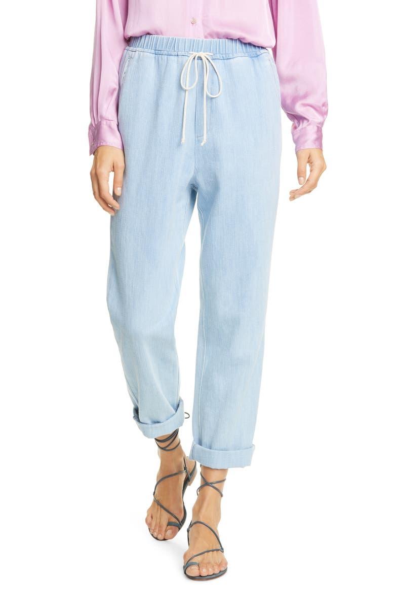 FORTE_FORTE Calvary Denim Pants, Main, color, BLEACH