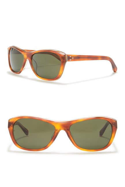 Image of Linda Farrow 57mm Oval Sunglasses