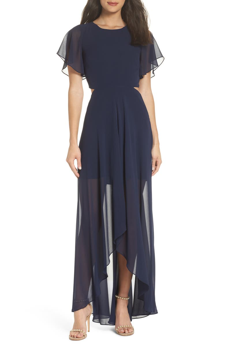 ALI & JAY Cutout Maxi Dress, Main, color, NAVY