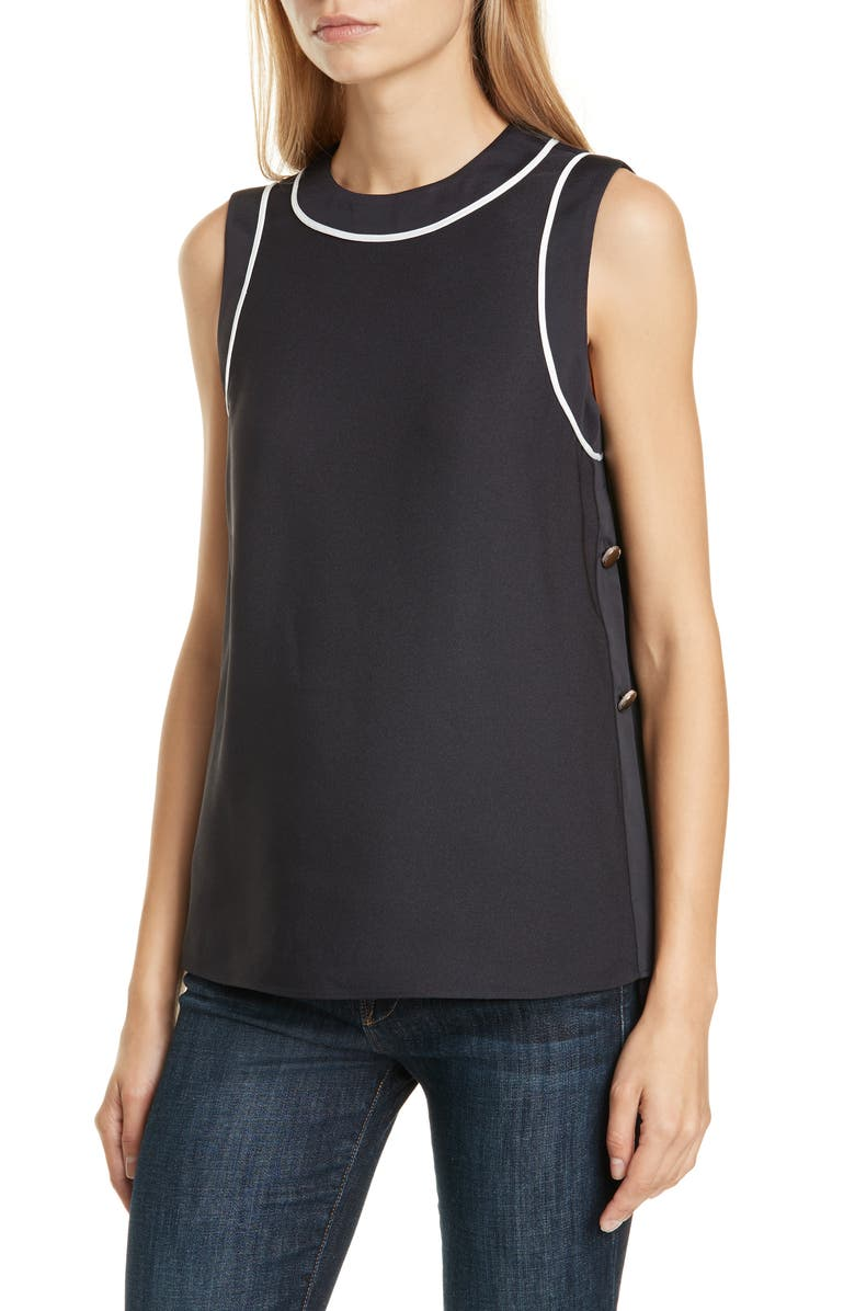 TED BAKER LONDON Bamby Sleeveless Top, Main, color, NAVY