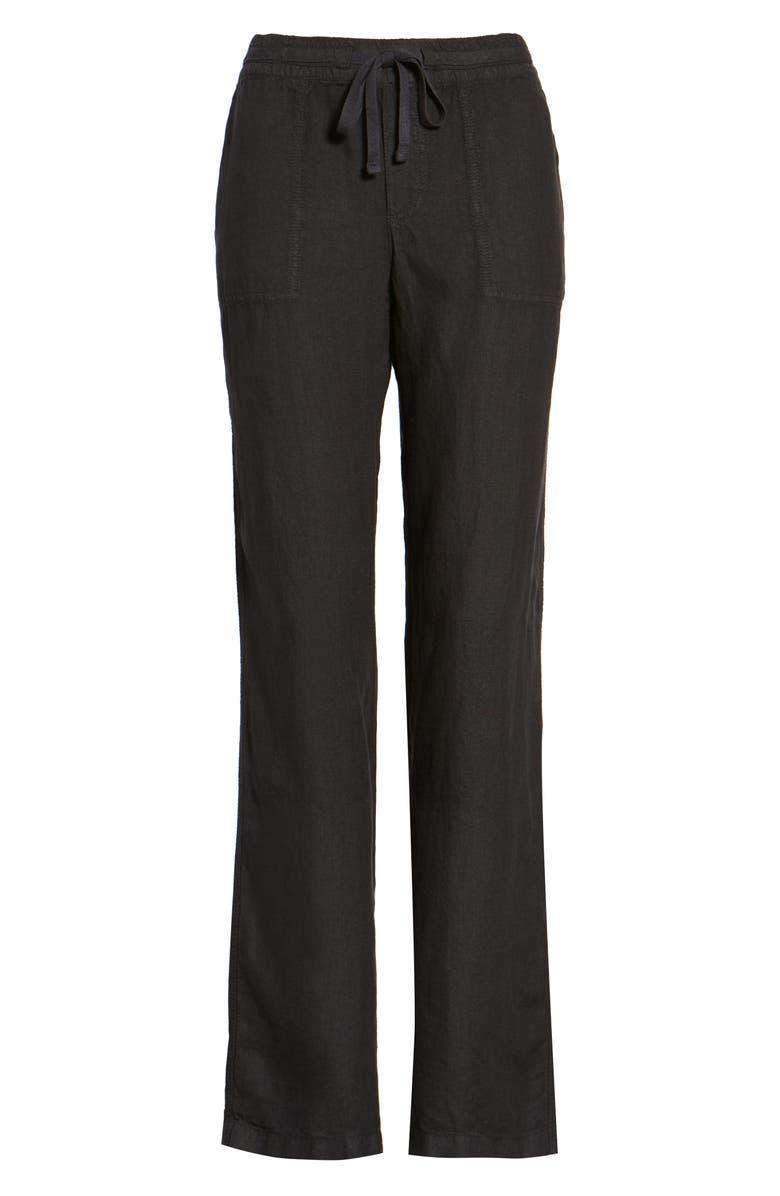 CASLON<SUP>®</SUP> Drawstring Linen Pants, Main, color, 001