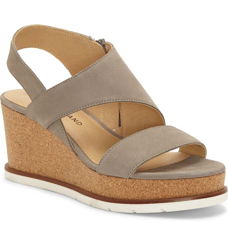 LUCKY BRAND Bylanna Platform Wedge Sandal, Main, color, DRIFTWOOD SUEDE