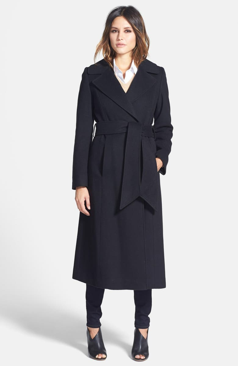 GEORGE SIMONTON 'Hollywood' Long Wrap Coat, Main, color, 001