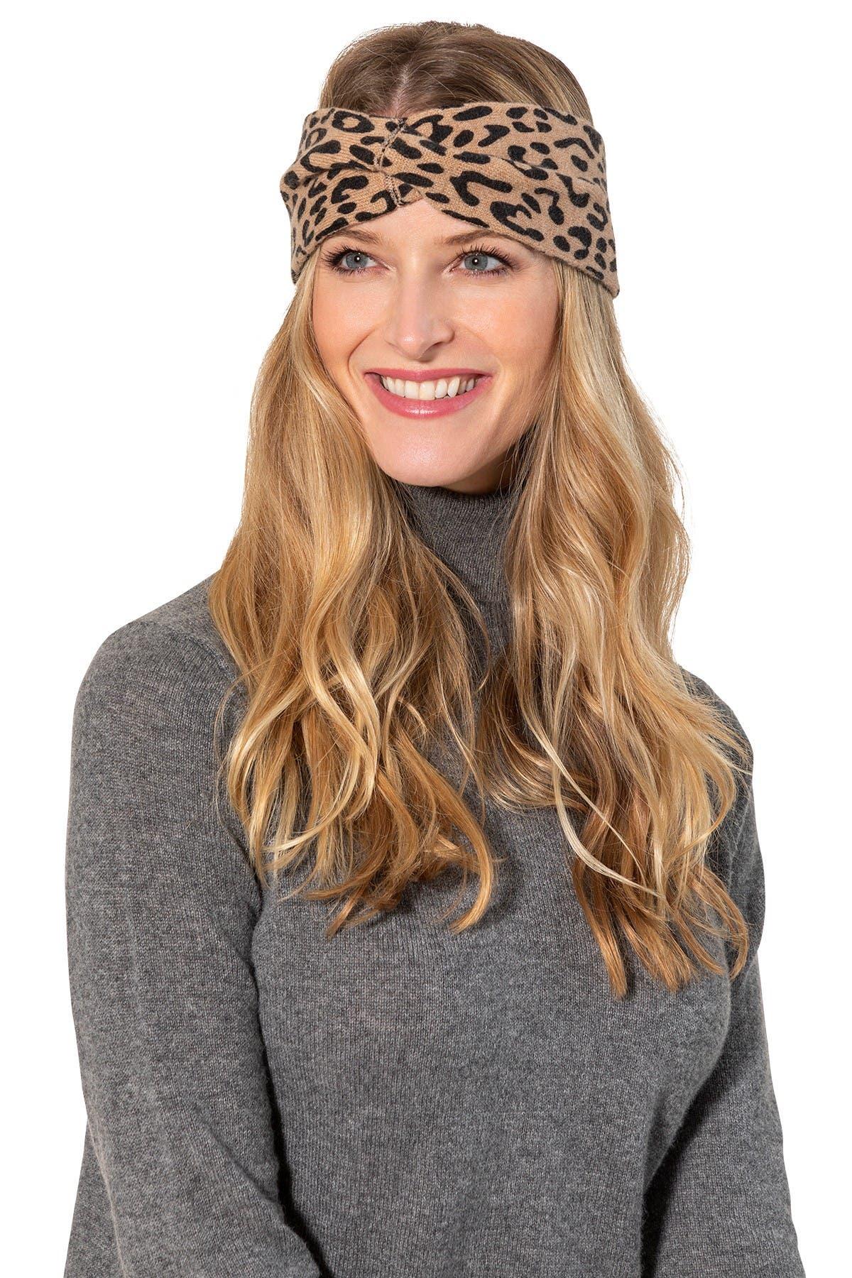 Image of AMICALE Cashmere Animal Print Headband