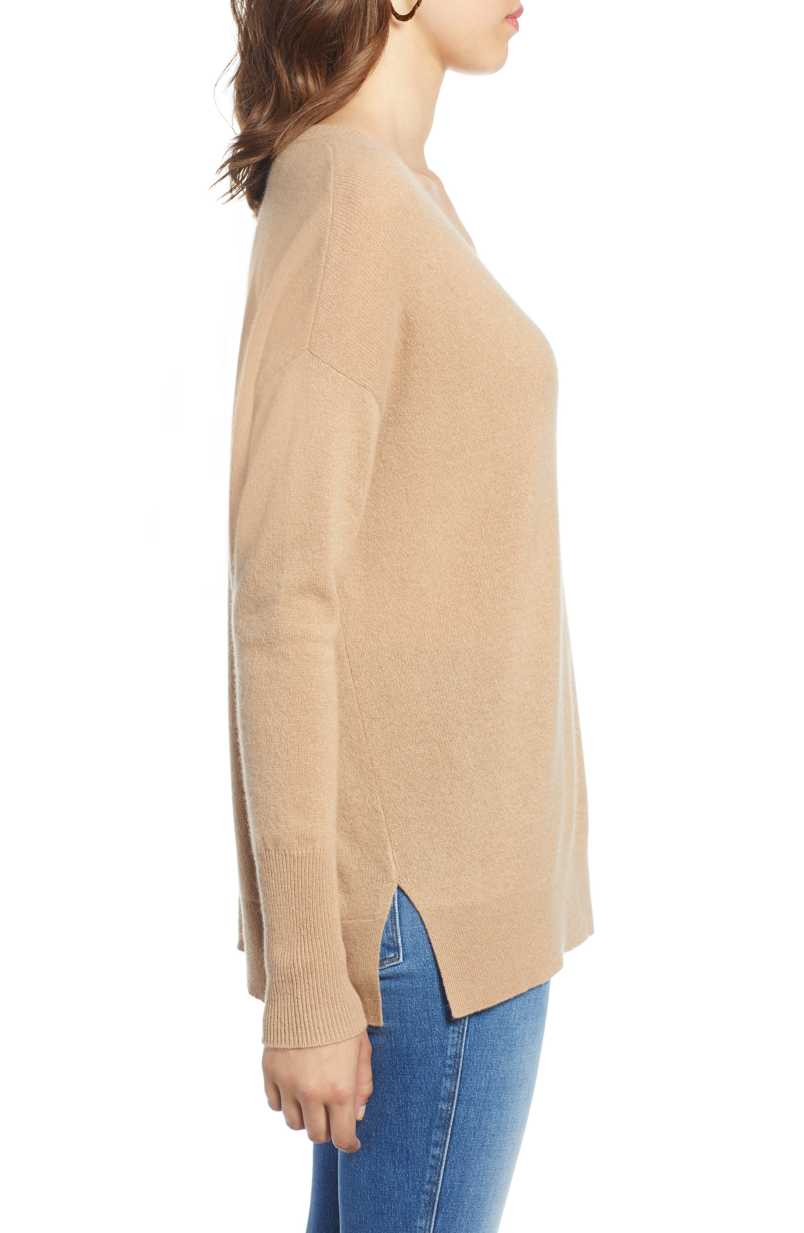 ,                             Relaxed V-Neck Cashmere Sweater,                             Alternate thumbnail 38, color,                             230
