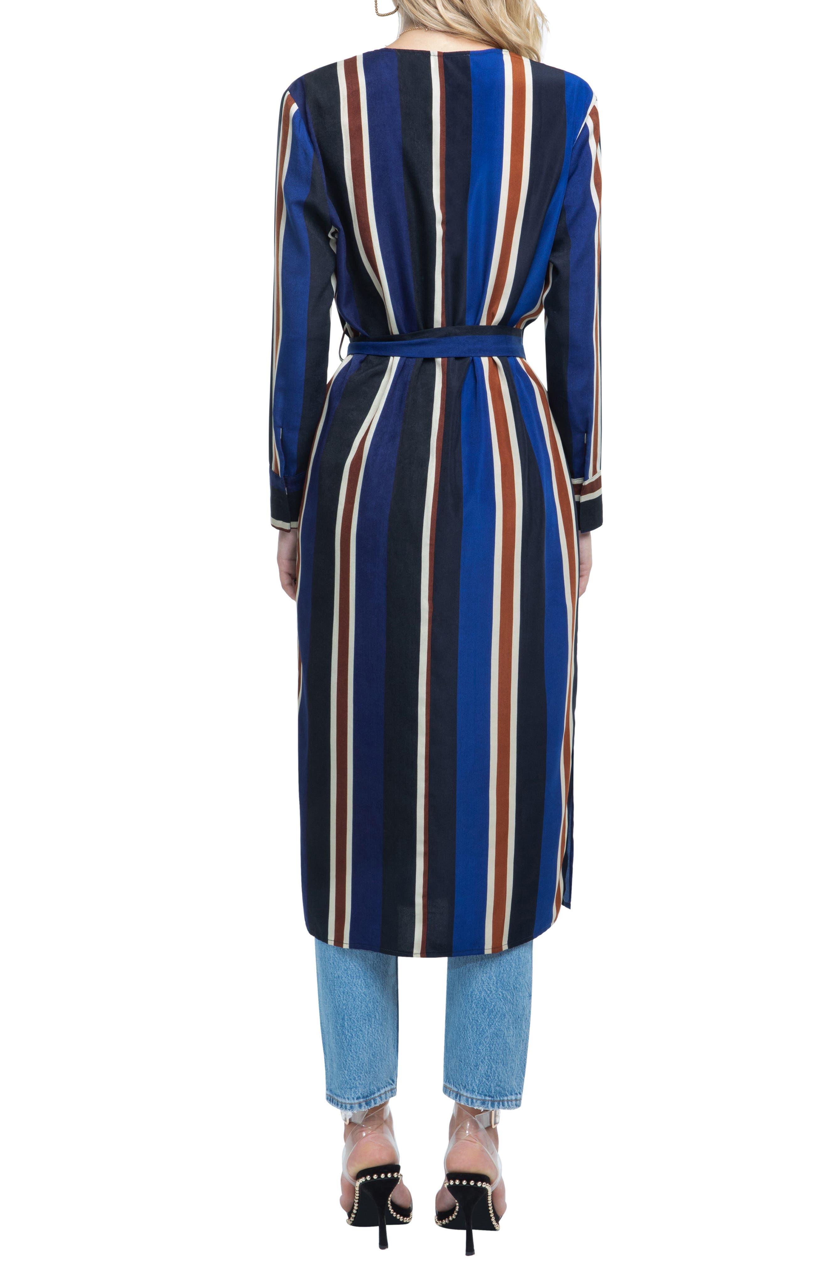 ,                             Stripe Wrap Dress,                             Alternate thumbnail 10, color,                             400