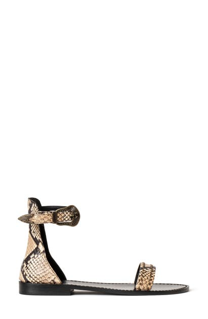 Zadig & Voltaire Leathers ELTA ALTA WILD ANKLE STRAP FLAT
