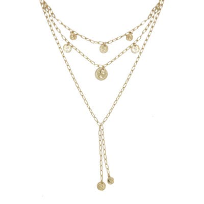 Ettika Layered Coin Lariat Necklace