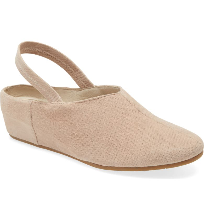 AMALFI BY RANGONI Valter Slingback Wedge, Main, color, SAND CASHMERE SUEDE