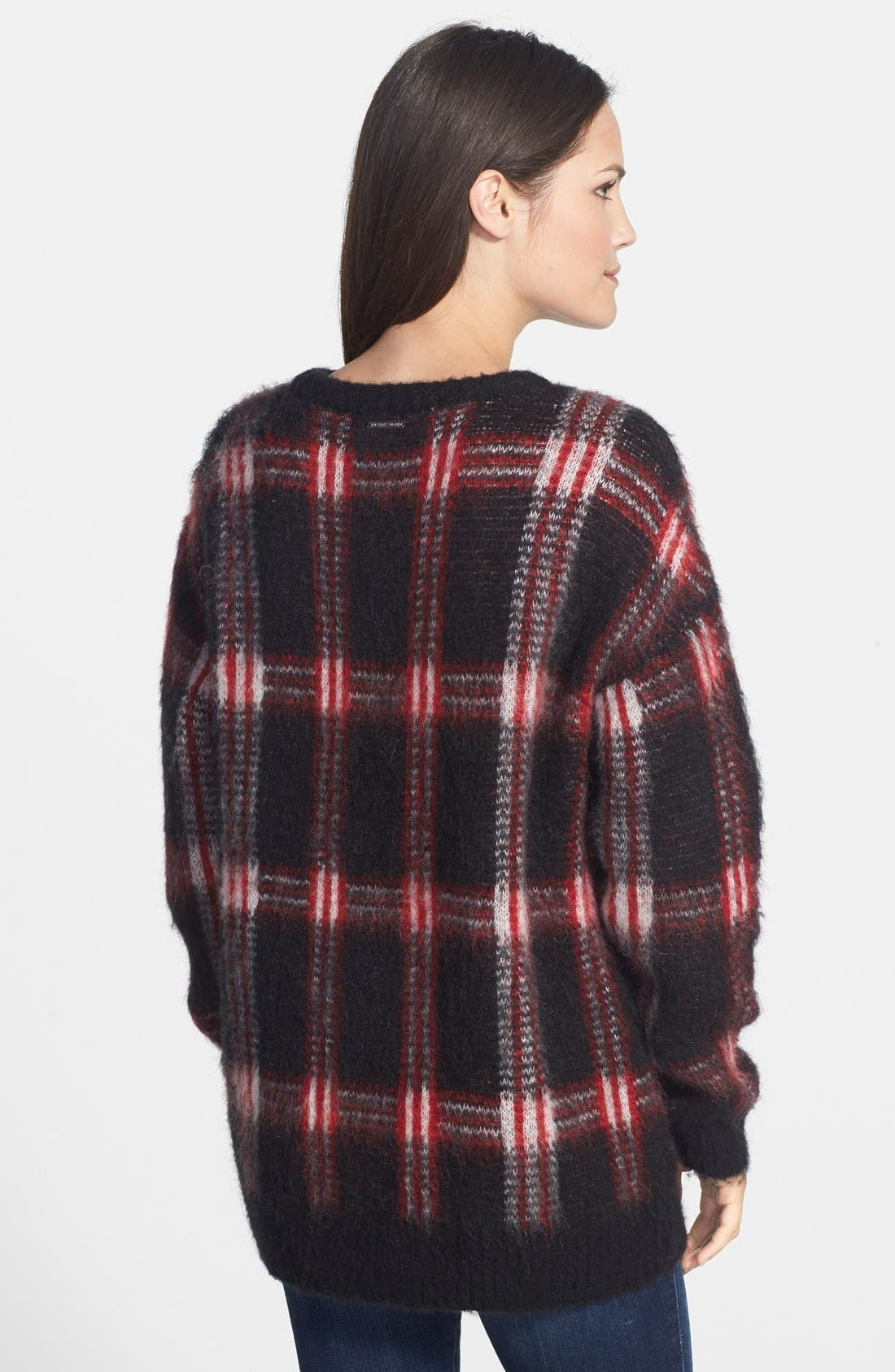 ,                             Plaid Crewneck Sweater,                             Alternate thumbnail 5, color,                             012