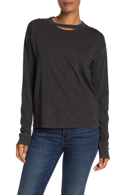 Image of n:PHILANTHROPY Cage Distressed Long Sleeve T-Shirt