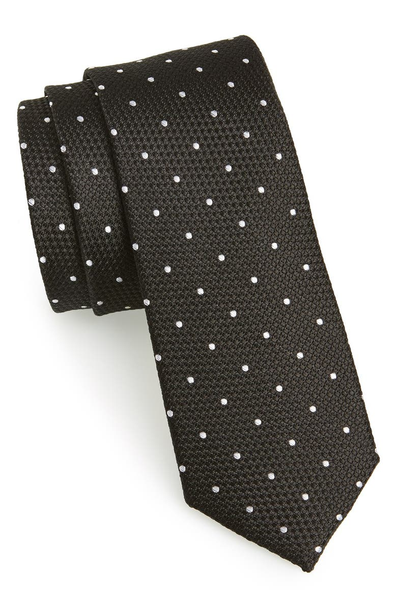 THE TIE BAR Woven Silk Tie, Main, color, 001