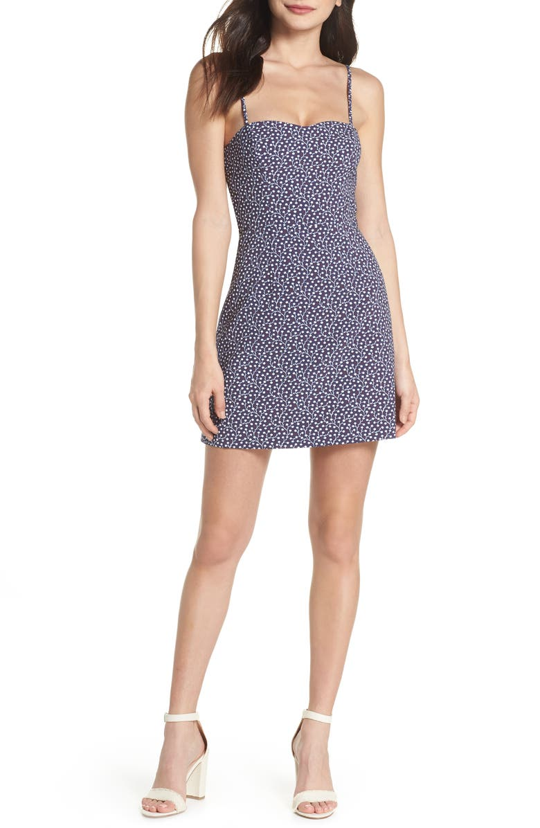 f4a71c5726f French Connection Print Sweetheart Minidress | Nordstrom