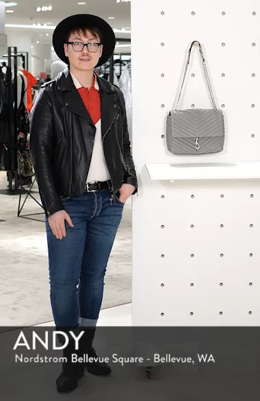 Edie Flap Quilted Leather Shoulder Bag, sales video thumbnail