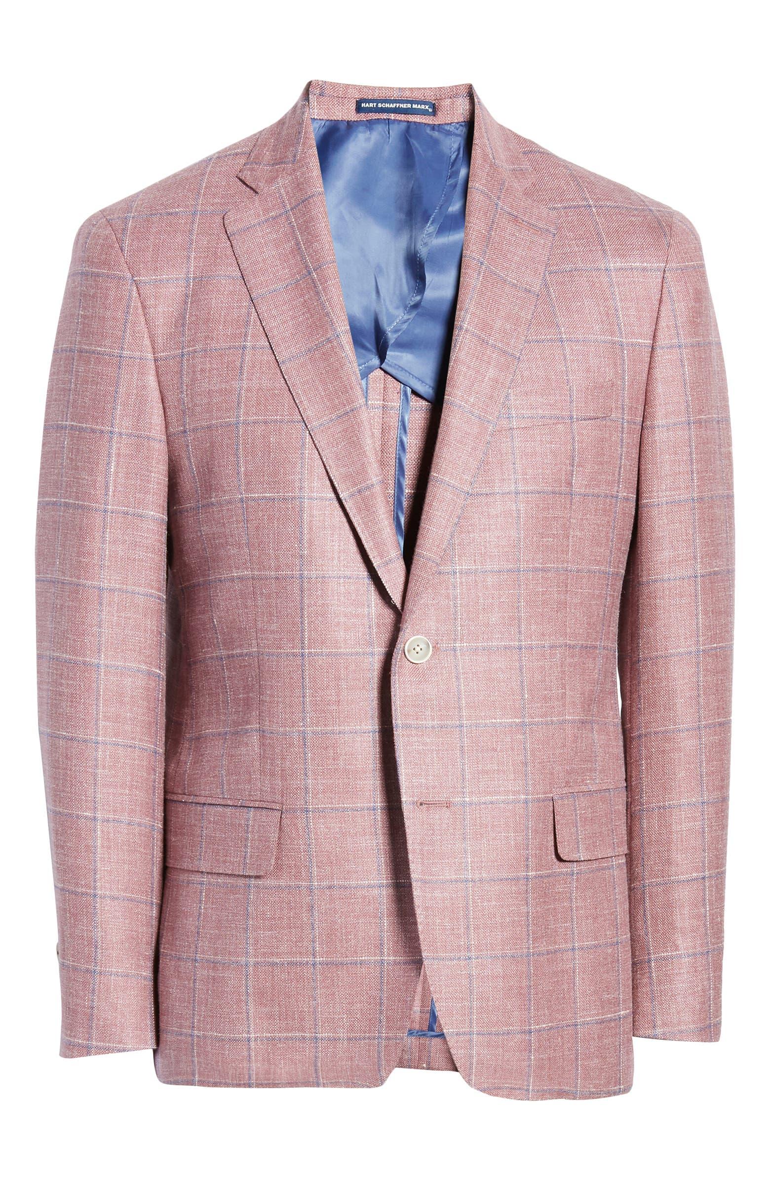 Classic Fit Windowpane Wool Blend Sport Coat HART SCHAFFNER MARX