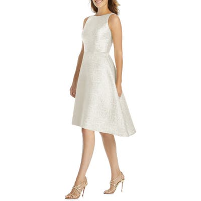 Dessy Collection Sateen High/low Cocktail Dress, Ivory