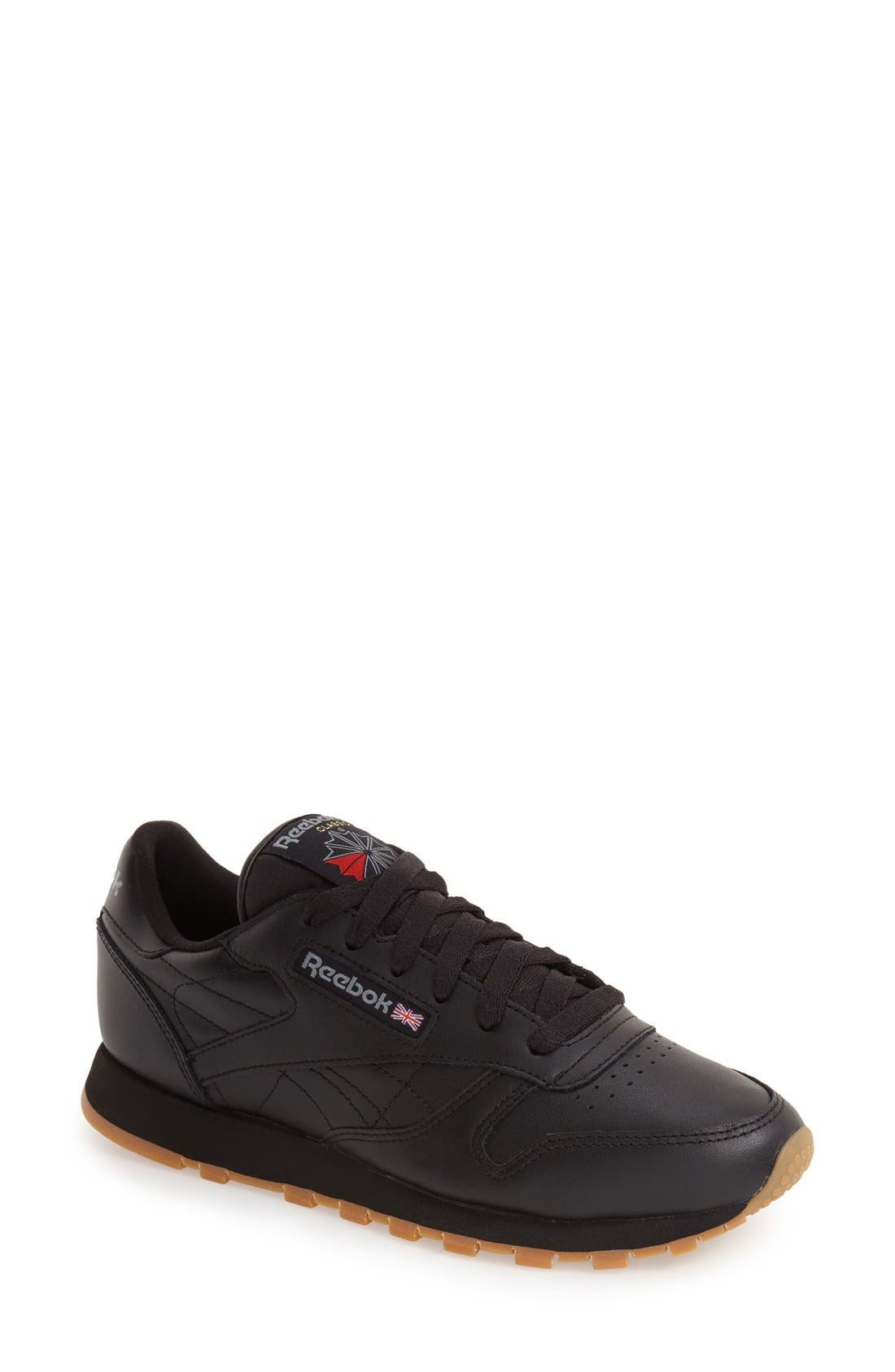 Reebok Classic Leather Sneaker- Black