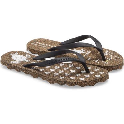 Asportuguesas By Fly London Turtle Flip Flop, 1/42 - Black