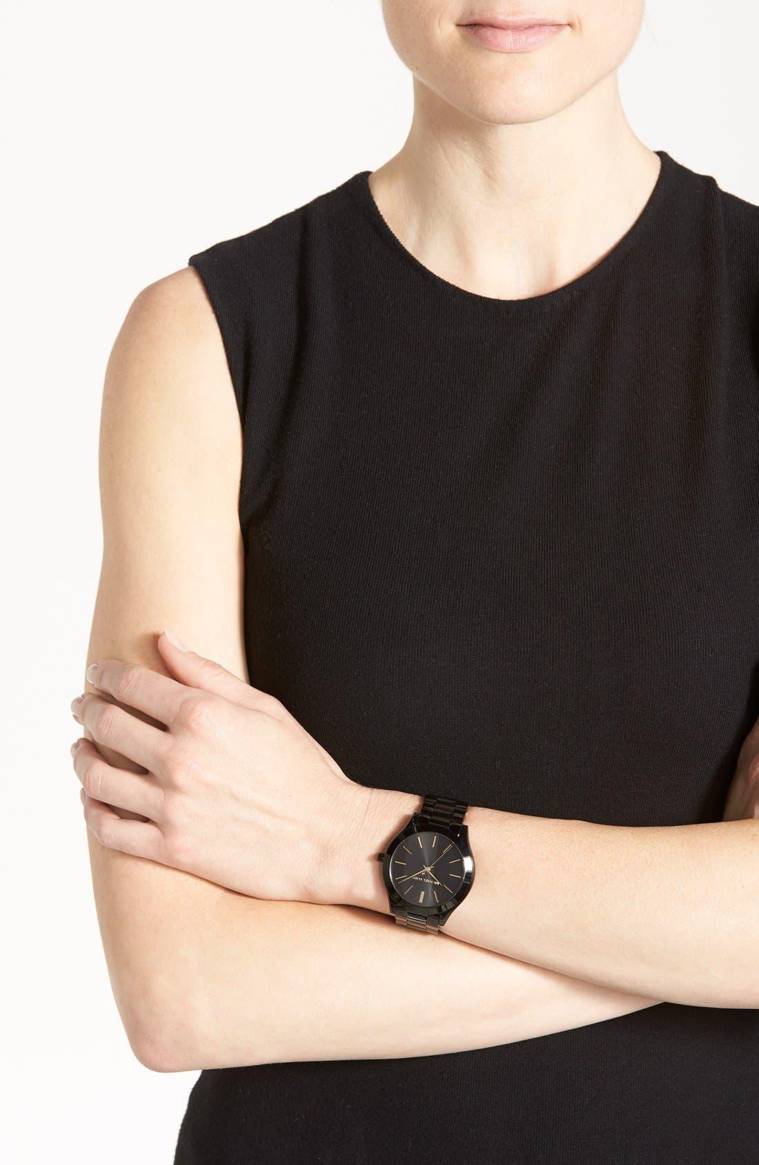 ,                             'Slim Runway' Bracelet Watch, 42mm,                             Alternate thumbnail 7, color,                             001