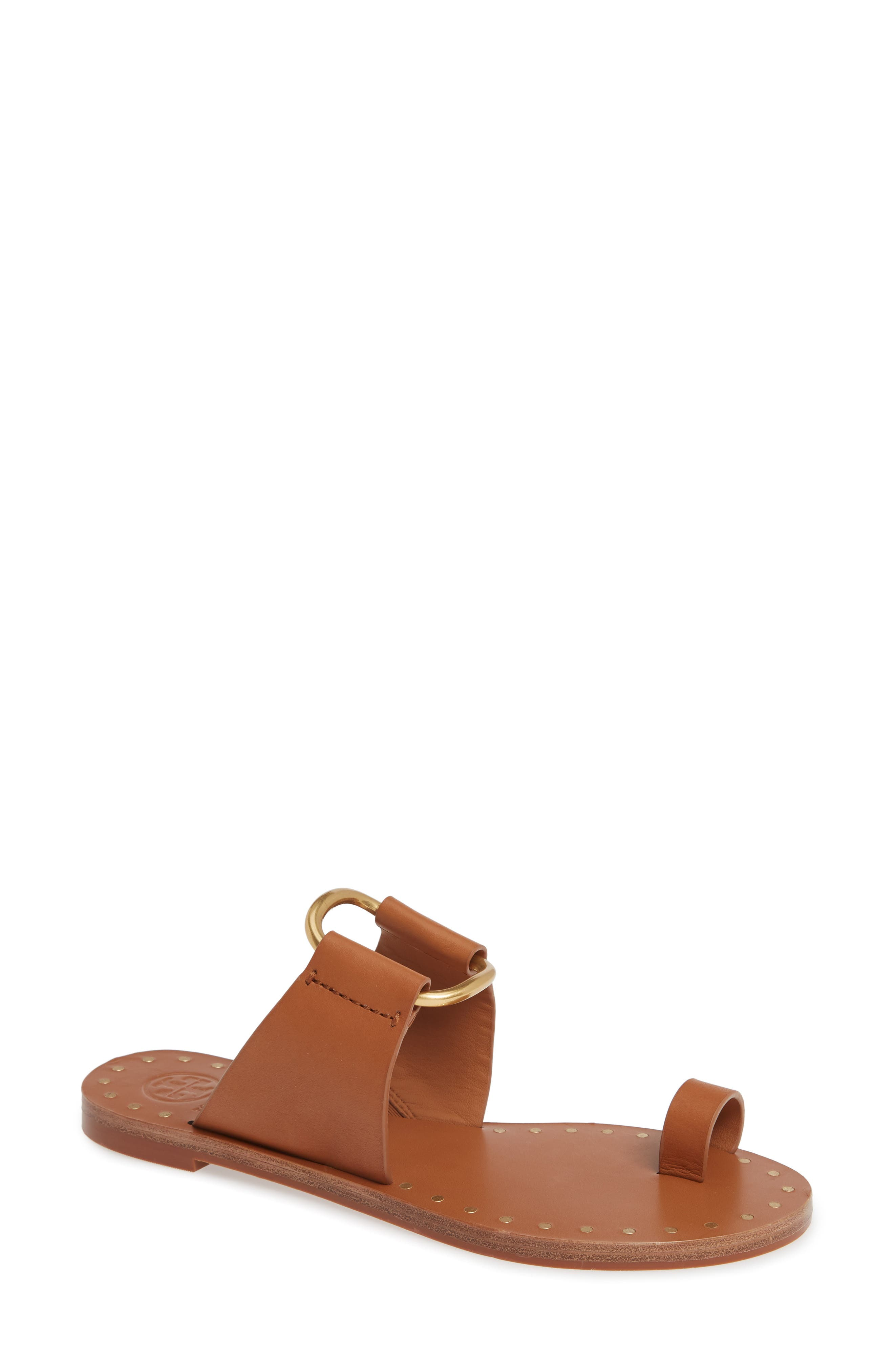 Tory Burch Ravello Toe Ring Sandal, Brown