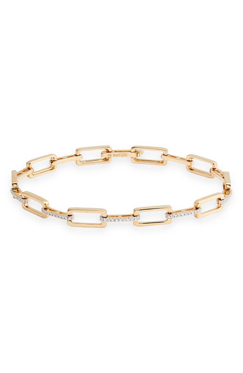 BONY LEVY Varda Multi Link Bracelet, Main, color, YELLOW GOLD/ DIAMOND