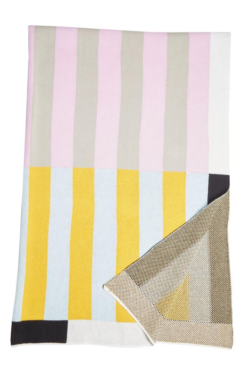 DUSEN DUSEN Stripe Throw Blanket, Main, color, 300
