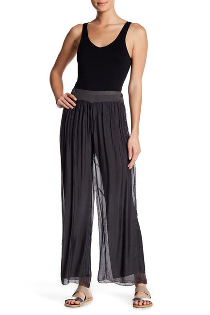 Image of Lola Made In Italy Pull-On Palazzo Pants