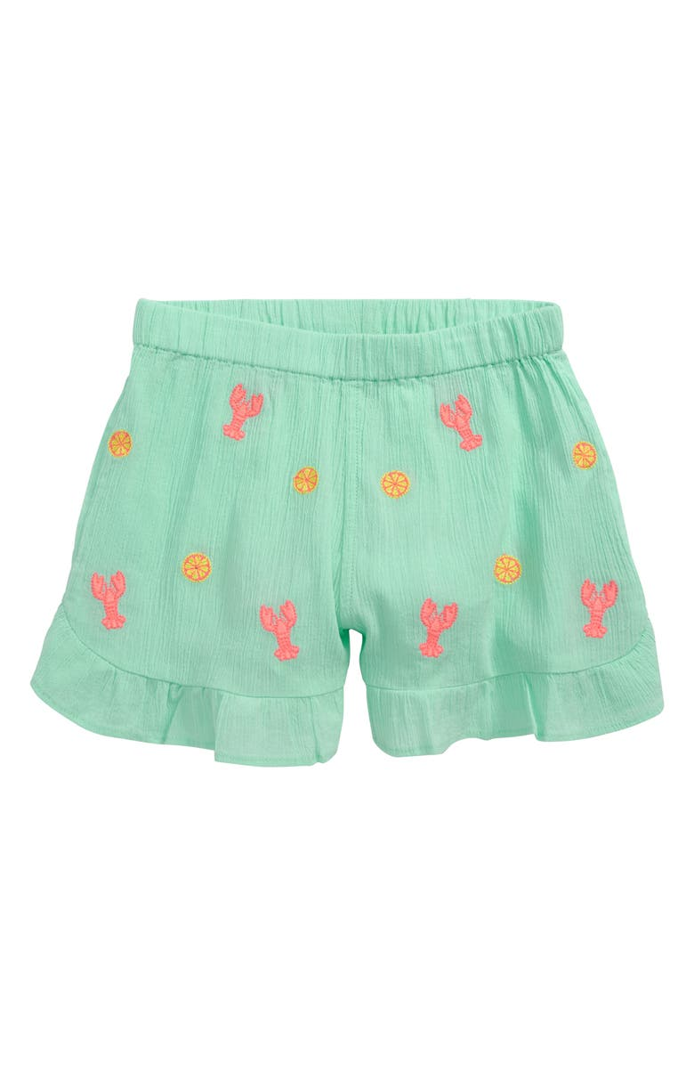 CREWCUTS BY J.CREW Embroidered Lobster Pull-On Shorts, Main, color, 300