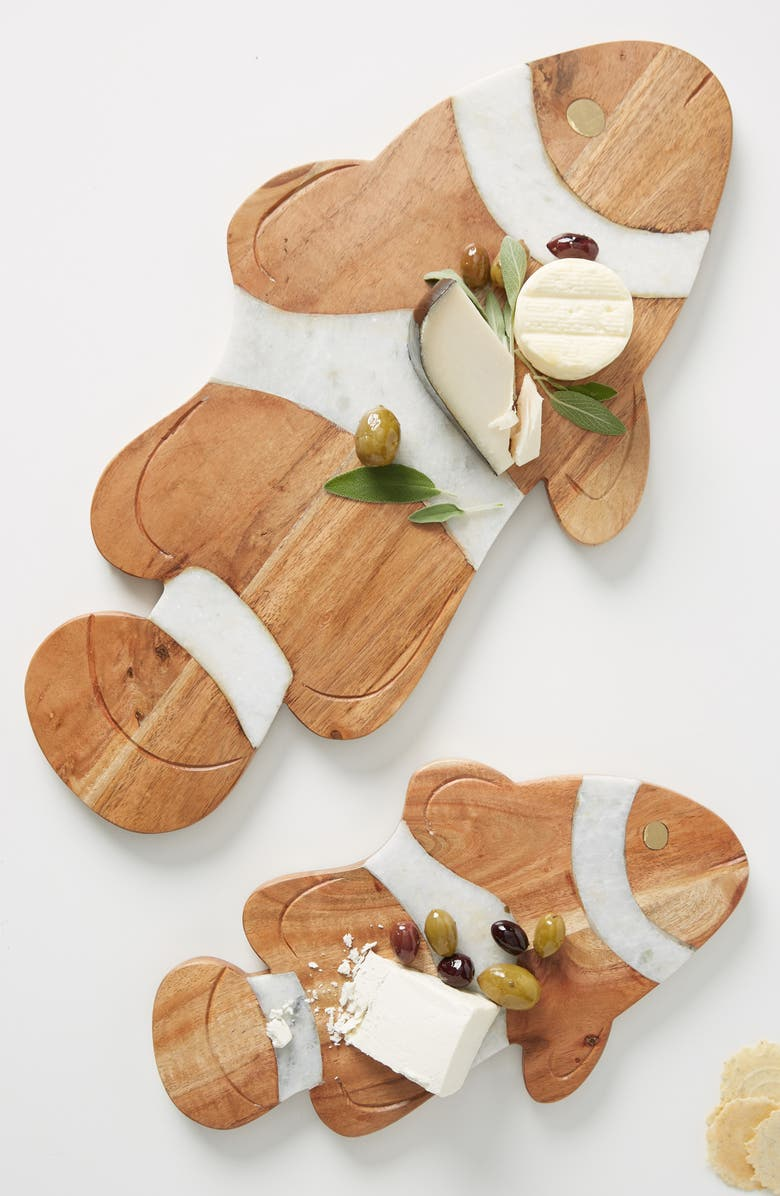 ANTHROPOLOGIE Clownfish Cheese Board, Main, color, BROWN