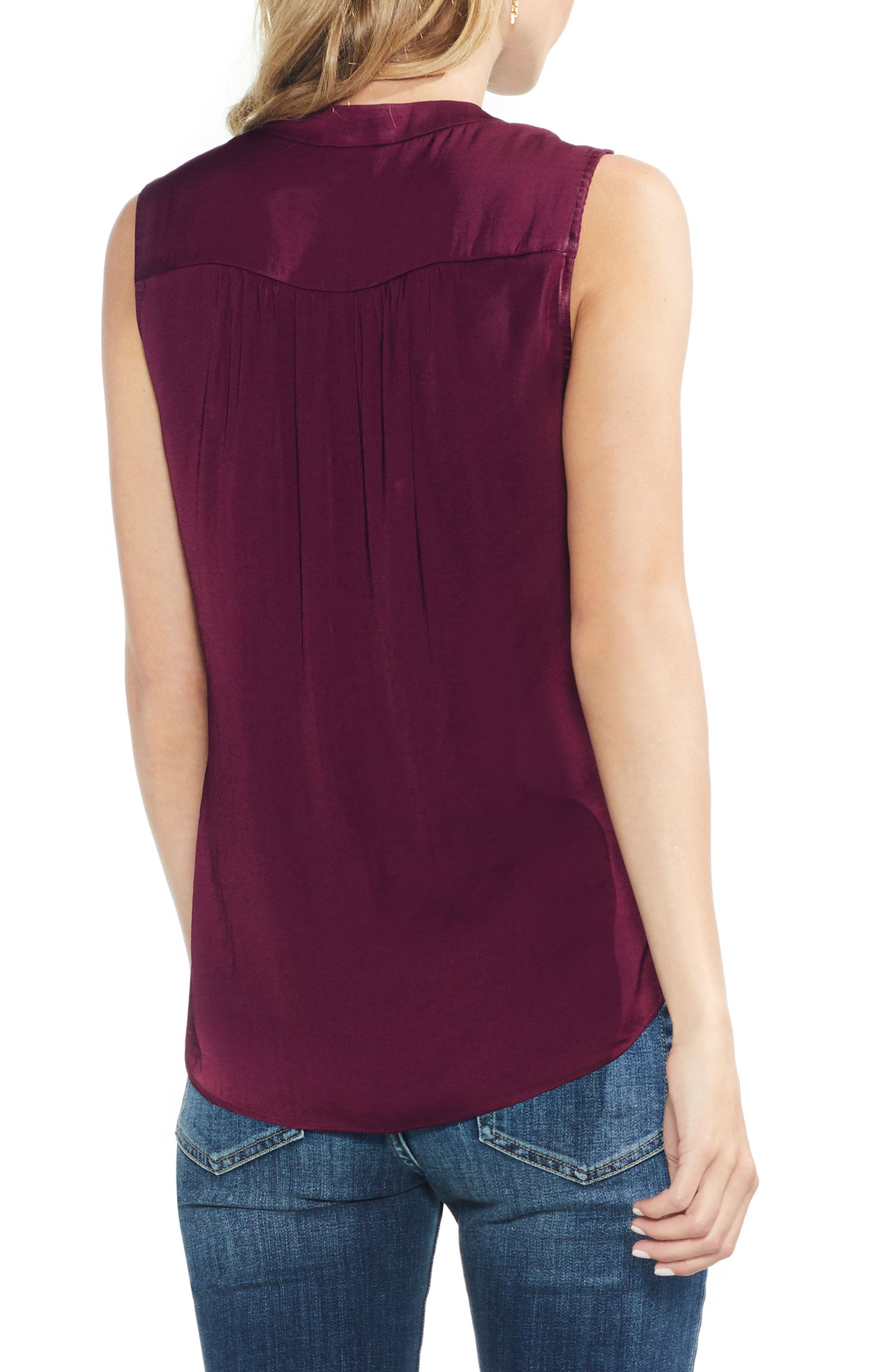 ,                             Rumpled Satin Blouse,                             Alternate thumbnail 225, color,                             648