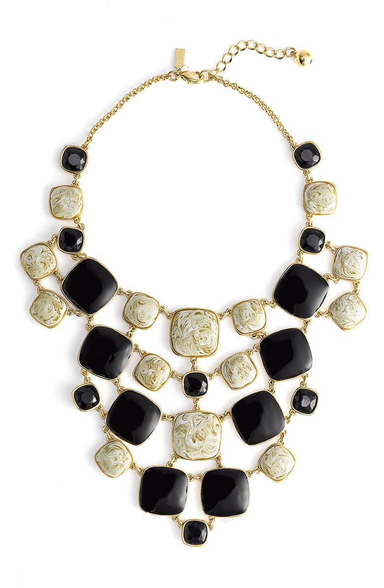 KATE SPADE NEW YORK 'cobblestone' bib necklace, Main, color, 001