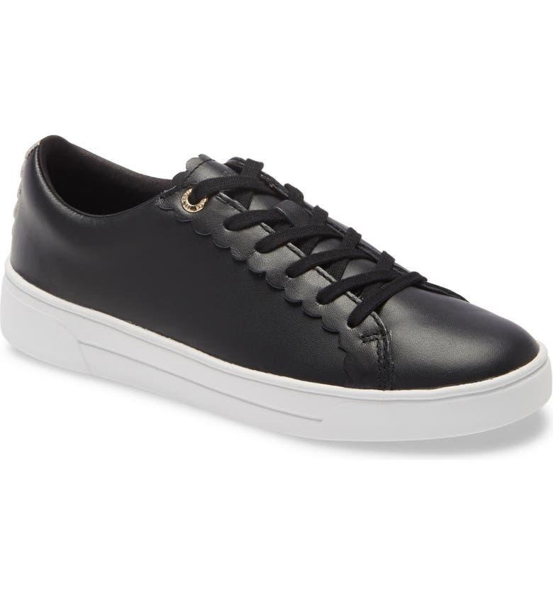 TED BAKER LONDON Tillys Platform Sneaker, Main, color, BLACK LEATHER