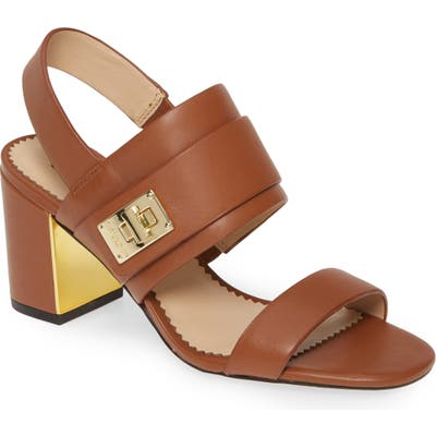Karl Lagerfeld Paris Jaylynn Sandal, Brown