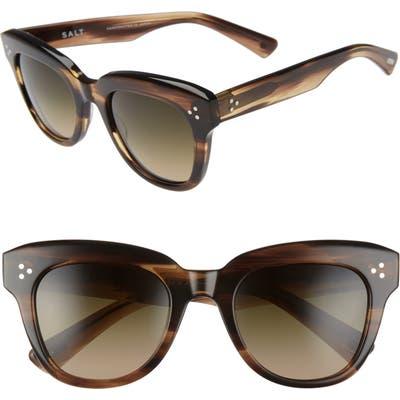 Salt. Sophia 52mm Polarized Square Sunglasses - Hazy Taupe/ Moss