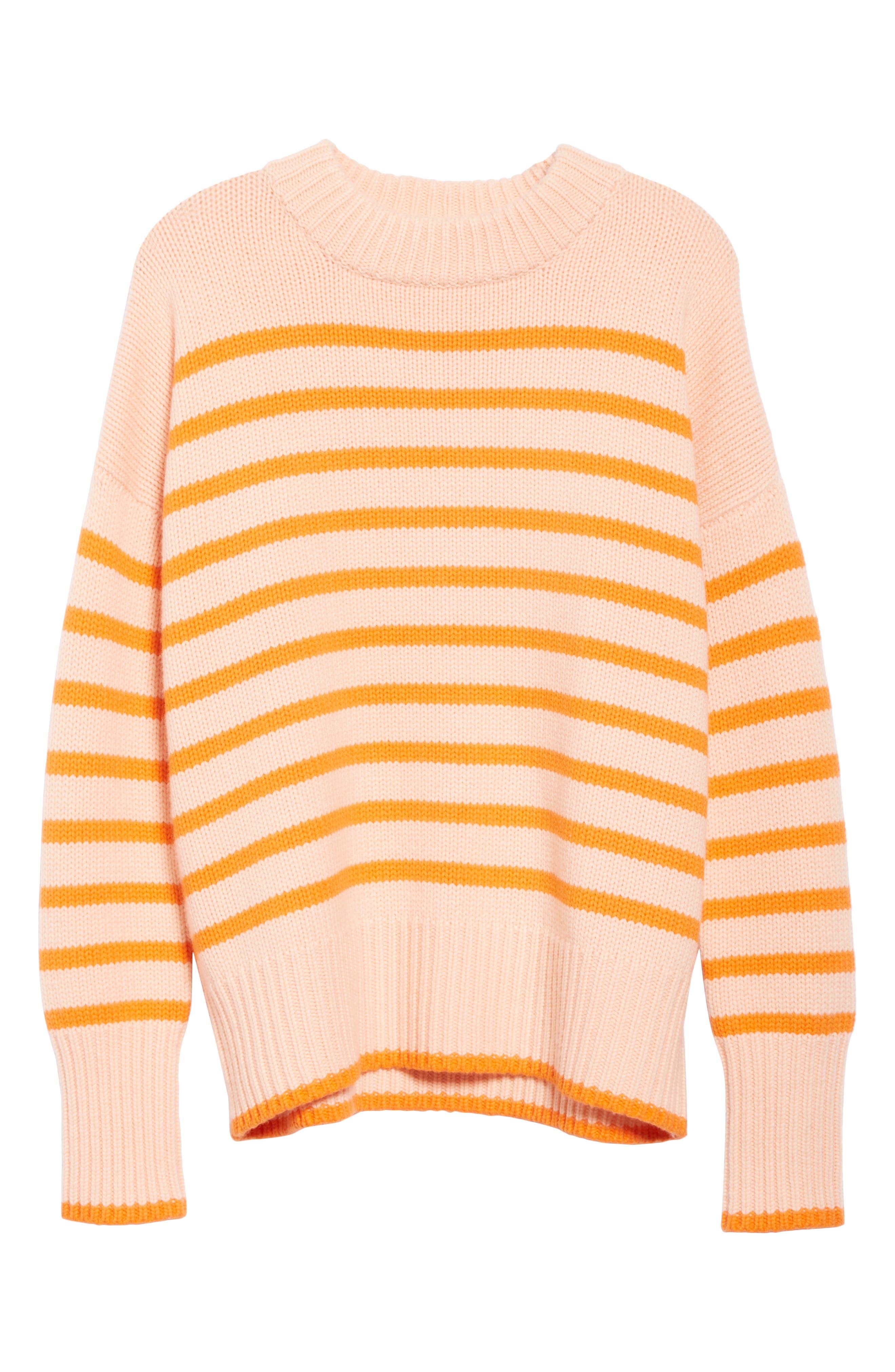 ,                             Marin Wool & Cashmere Sweater,                             Alternate thumbnail 6, color,                             PEACH/ ORANGE