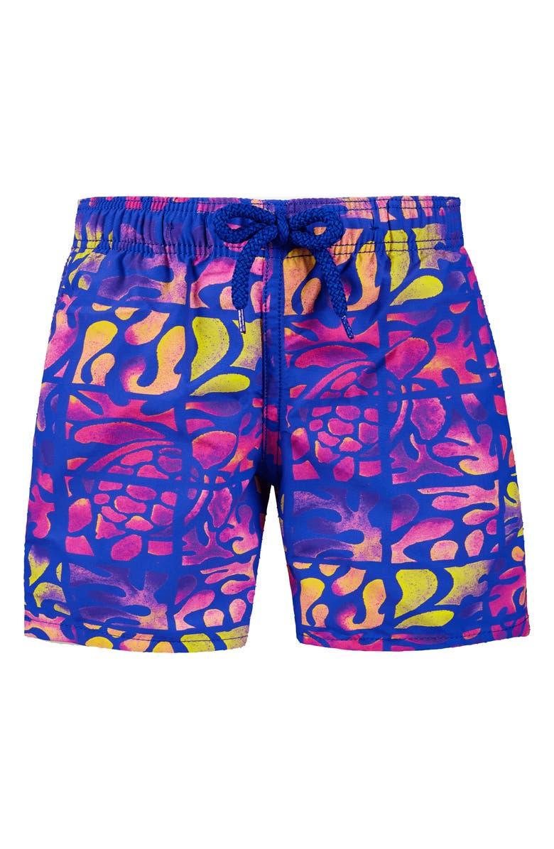 VILEBREQUIN Phuket Swim Trunks, Main, color, BLEU DE MER