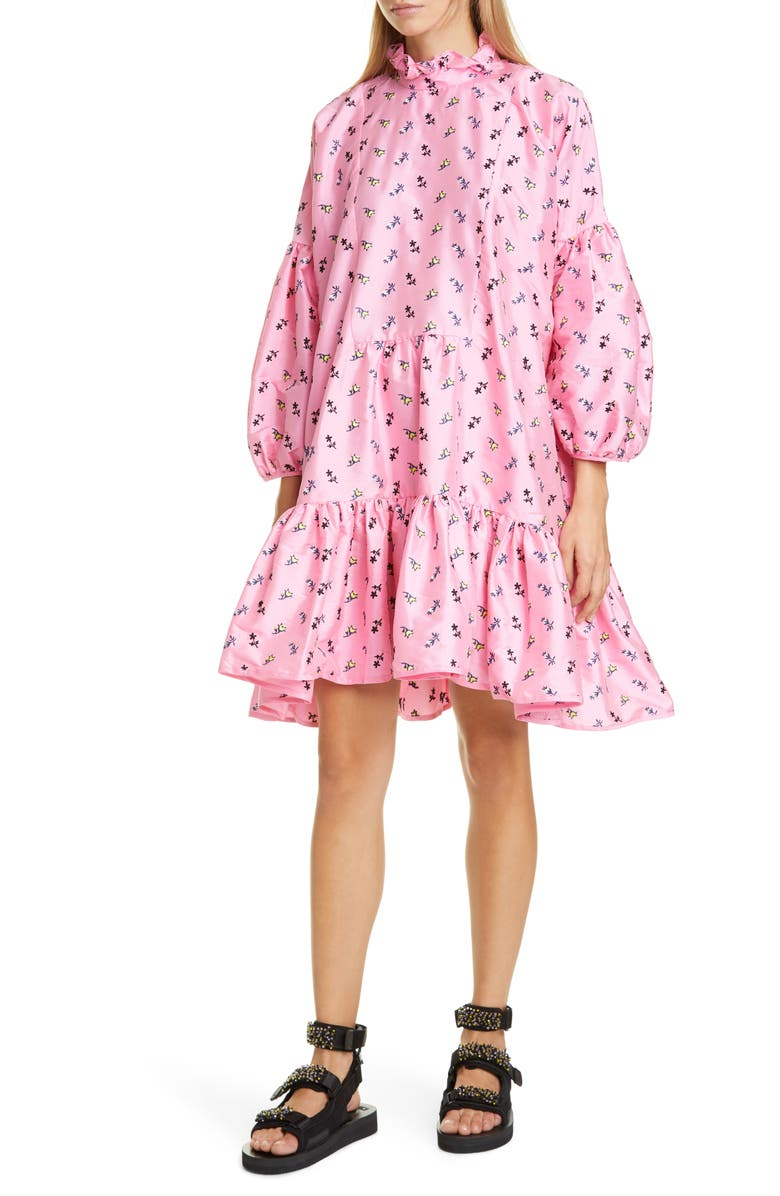CECILIE BAHNSEN Belle Dress, Main, color, PINK MULTICOLOUR
