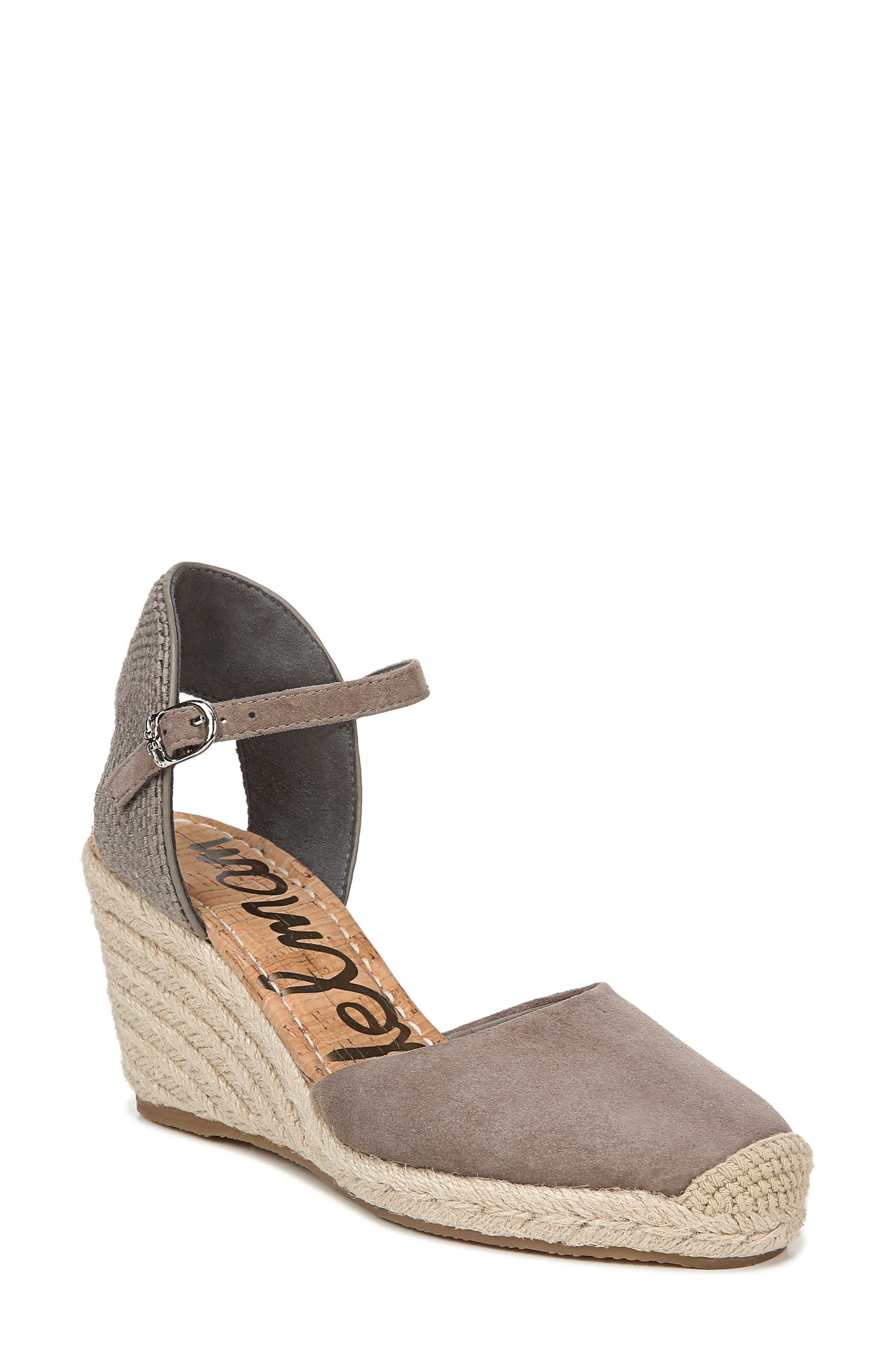 Sam Edelman Payton Wedge Sandal, Grey