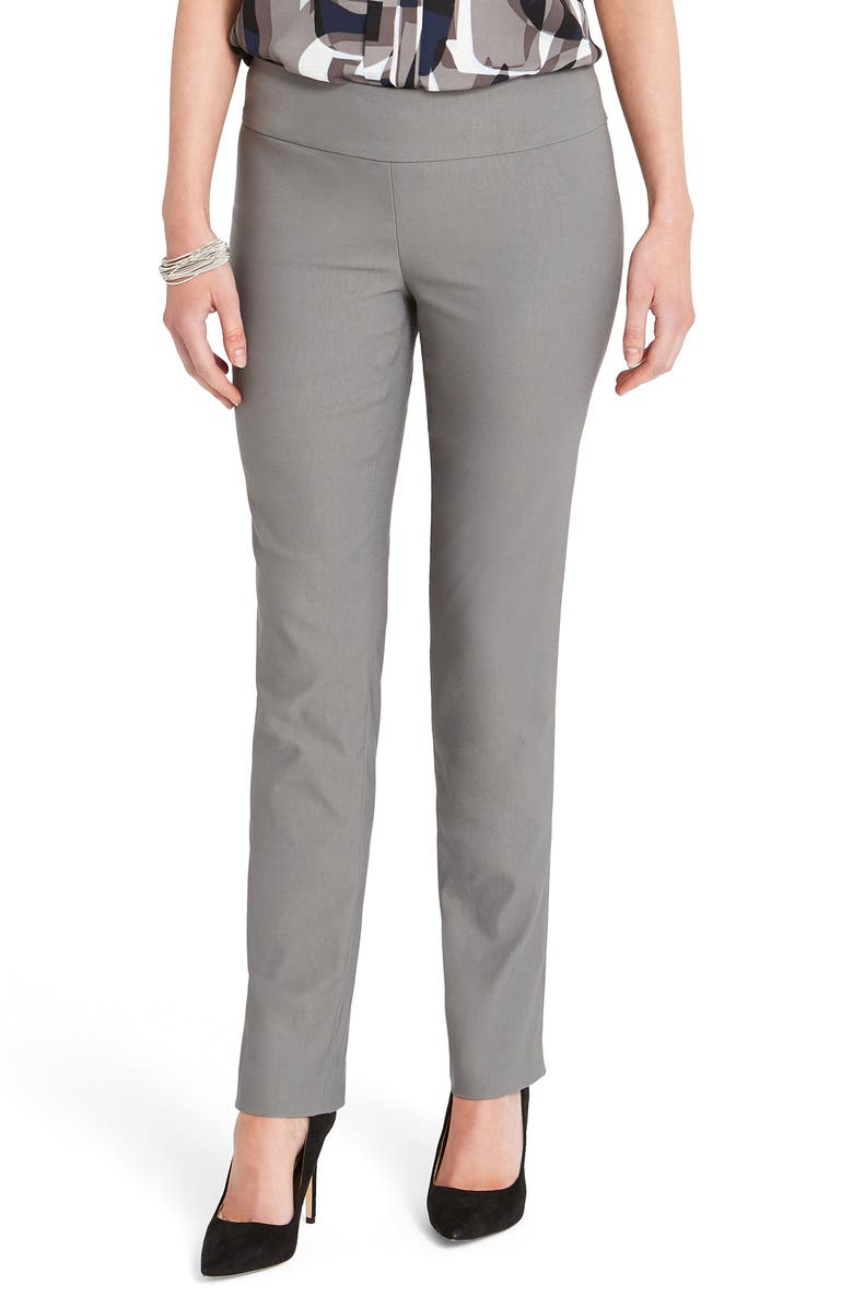 NIC+ZOE Wonderstretch Straight Leg Pants, Main, color, TARNISH